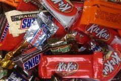 组巧克力 免版税库存照片