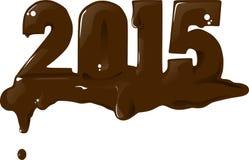 2015年巧克力 库存照片