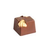 巧克力candie用从汇集的一个欧洲榛树 免版税库存照片