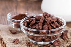 巧克力cornklakes用牛奶 图库摄影