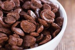 巧克力cornklakes的部分 免版税库存图片