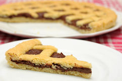 巧克力crostata 免版税库存图片