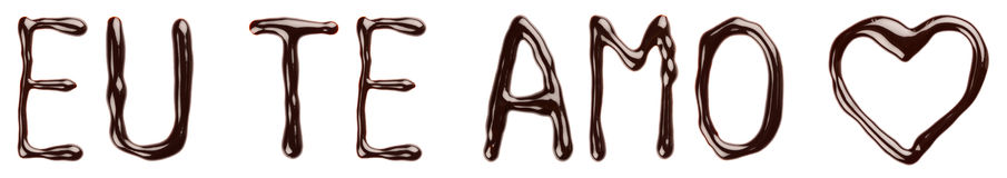 巧克力EU te amo 库存照片