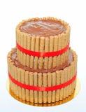 巧克力ganache蛋糕 免版税库存图片