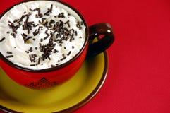 巧克力latte洒 免版税库存照片