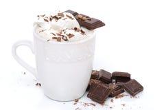 巧克力latte 免版税库存照片