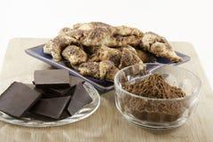 巧克力rugelach 免版税库存照片