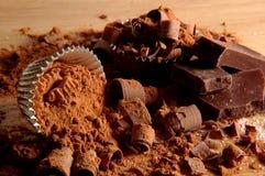 巧克力v 库存图片