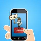 巧妙的电话翻译概念 免版税图库摄影