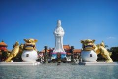 巨人中正公园菩萨雕象在中正区,基隆,台湾 库存照片