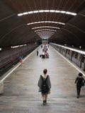 巨人地铁站的,布加勒斯特人们 免版税库存照片
