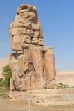 巨人埃及memnon权利雕象二 免版税库存图片