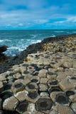巨人堤道在北爱尔兰 免版税库存图片