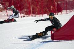 巨人并行障碍滑雪 免版税库存图片