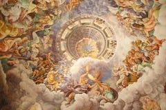 巨人的大厅在Palazzo del Te,曼托瓦,意大利 免版税库存照片