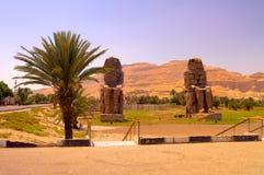 巨人雕象在埃及 库存照片