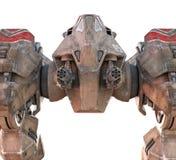 巨人Mecha步行者3D回报 库存图片