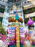 巨型兰花在泰国模范曼谷兰花天堂 库存图片