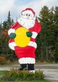 巨型圣诞老人符号 库存图片
