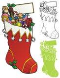 巨型圣诞节长袜 免版税图库摄影