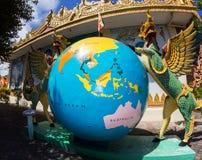 巨型地球亚洲人样式 库存照片