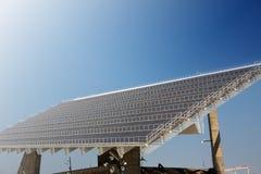 巨型太阳电池板 图库摄影