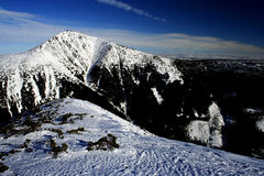 巨型山冬天 免版税图库摄影