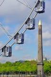 巨型弗累斯大转轮(重创的Roue)在巴黎 库存照片