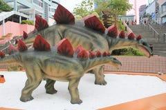 巨型恐龙陈列的香港传奇 图库摄影
