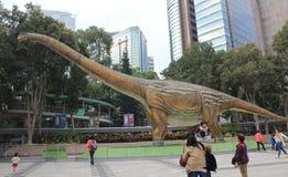 巨型恐龙exhibitio的香港传奇 库存图片