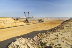 巨型戽头转轮挖土机 免版税库存图片
