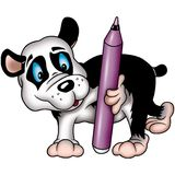 巨型标记熊猫 库存例证