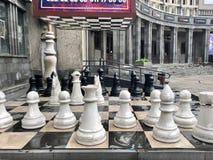 巨型棋在耶烈万亚美尼亚 免版税库存照片