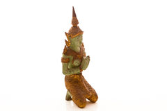 巨型泰国样式雕象祈祷 库存照片