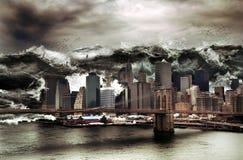 巨型海啸 向量例证