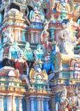 巨型的古庙复杂chidambaram泰米尔・那杜印度 库存图片
