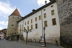 巨型的城堡和它巨型的塔 库存图片