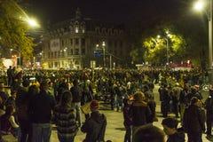 巨型的奇特的抗议在布加勒斯特 免版税库存照片