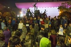巨型的奇特的抗议在布加勒斯特 免版税图库摄影