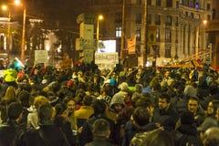 巨型的奇特的抗议在布加勒斯特 图库摄影
