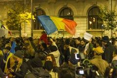 巨型的奇特的抗议在布加勒斯特 库存图片