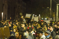 巨型的奇特的抗议在布加勒斯特 免版税库存图片
