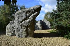 巨型的岩石在公园 免版税库存照片