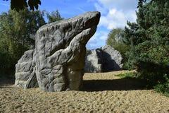 巨型的岩石在公园 免版税库存图片