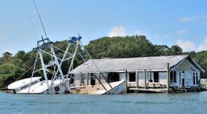 巨型的沿海洪水 免版税库存照片