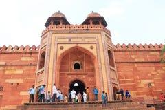 巨型的法泰赫普尔西克里堡垒和复合体北方邦印度 免版税图库摄影