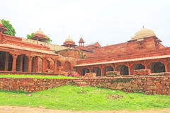 巨型的法泰赫普尔西克里堡垒和复合体北方邦印度 免版税库存图片