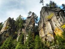 巨型的石头在捷克 库存照片