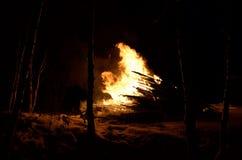 巨型的篝火 库存图片