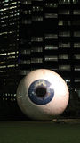 巨型眼珠在街市达拉斯 免版税库存图片
